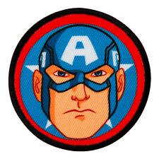 AVENGERS Captain America Button  Aufnäher Aufbügler Iron Patch Applikation #9208