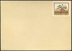 Australia 27c Flowers Pre-Paid Envolope Cover Unused #C18725