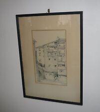 RARE PENCIL DRAWING BY AUSTRALIAN ARCHITECT B.J. WATERHOUSE & TITLED DATED 1927