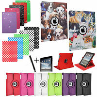 For APPLE iPAD - HIGH QUALITY PU LEATHER CASE COVER STAND WITH AUTO SLEEP/WAKE