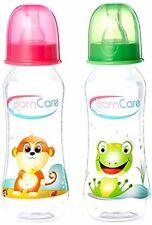BornCare Regular Easy Grip Feeding Bottle with Silicone Nipple Fast Flow (8 oz)
