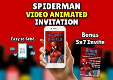 SpiderMan Video Animated Birthday Invitation