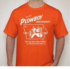 Orange PLOWBOY EQUIPMENT T Shirt Tractor Farm Parts for Allis Chalmers Large XL