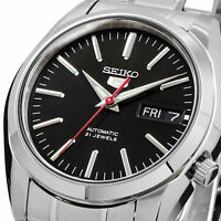 SEIKO 5 SNKL45 SNKL45K1 21 Jewels Automatic Black Dial Stainless Steel Men Watch
