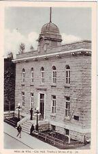 Canada Thetford Mines Quebec - Hotel de Ville City Hall old postcard