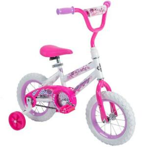 """Huffy 12"""" Sea Star Girls' Bike, Pink, quick and easy assembly, 3 to 5 years"""