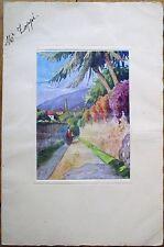 Menu: French 1932 w/Graphic Cover: Langue de Boeuf Henri IV, Ananas Chantilly