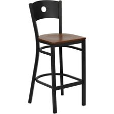 Flash Metal Restaurant Bar Stool, Black, Cherry - XU-DG-60120-CIR-BAR-CHYW-GG