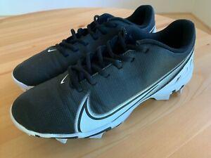 Nike Mens Vapor Edge Shark Black White Football Cleats Size 9
