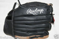 """Rawlings T-Ball Glove 10.5"""" Ages 7-9 Brown Black Left Hand Thrower nwt"""