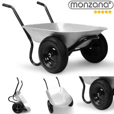 Monzana® Schubkarre 2Rad 150kg Bauschubkarre 100L Transportkarre Gartenkarre