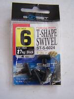 MATERIEL DE PECHE . SUNSET T. SHAPE SWIVEL ST.S . 6024 . TAILLE 6 . 27 KG .