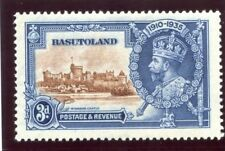 Basutoland 1935 KGV Silver Jubilee 3d DOT TO LEFT OF CHAPEL variety MLH. SG 13g.