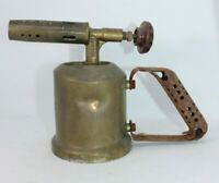 Express 21 unis france brass blow lamp torch vintage antique small