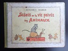 Rabier Scène de la vie privée des animaux Garnier Réed 1929 BON ETAT