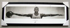 Michael Jordan Wings framed poster Ready to Hang Black timber  NBA CHICAGO BULLS