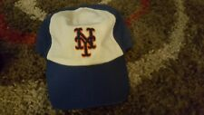 NEW YORK METS baseball cap HAT - CLASSIC STYLE 80s 70s BLUE WHITE AND ORANGE OOP