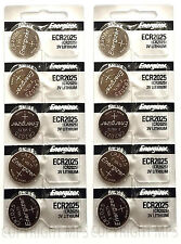 10 PCs Energizer CR2025 Lithium Coin Cell 3V Original New Batteries Exp: 2025