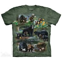 Bear Collage T-Shirt by The Mountain.  North American Zoo Animals Sizes S-5X NEW