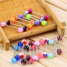 20pcs/set Multicolor Tongue Stud Nipple Ring Barbell Body Stud Piercing Jewelry