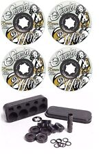 Sector 9 Goddess 76mm 78a Longboard Wheels Ghost/Yellow + Independent Bearings
