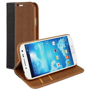 High Quality Leather Wallet Case Flip Cover For Samsung Galaxy S4 I9500