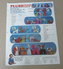 Old Vintage 1960's - PLUSH TOYS - Stuffed Animals - CATALOG - Pen Argyl PA.