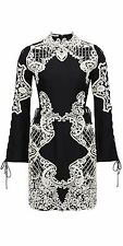 Thurley Women's Black Mirage Dress Size UK 12