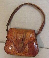 Vintage 1940's-50's Genuine Alligator Head, Hands & Feet Baguette Purse Handbag