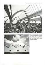 1958 Roof Lighting, Factory, Machine Shop  Brunswick, W Germany : Prof Dr Ing W
