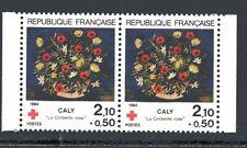 """Croix Rouge 1984 """"La corbeille rose""""  (Yvert et Tellier n°2345a)  carnet"""