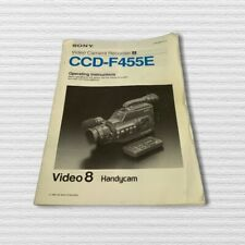 Sony Original operating manual CCD-F455E 1991 Video 8 Handycam