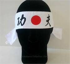 "Japanese Hachimaki Headband Marshal Art ""Kung-Fu"" Cotton /Made in Japan"