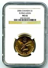 2006 CANADA $1 NGC MS66 LUCKY LOONIE FLYING LOON DOLLAR SUPER RARE