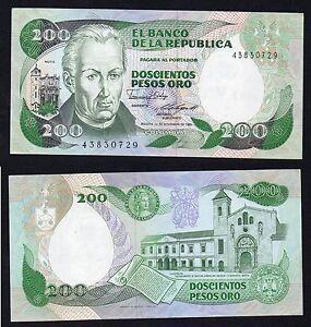 Colombia 200 pesos oro 1985 SPL+/XF+  B-05