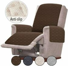 Chocolate Anti-Slip Oversized Recliner Cover Slipcovers for Leather Sofa Chair
