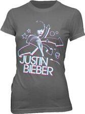 New: JUSTIN BIEBER - 3D (Juniors Fitted Girlie XL) Concert T-Shirt