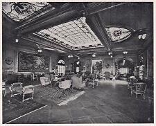 D2078 Salone di Musica classe di lusso del Duilio - Stampa d'epoca - 1923 print