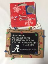Alabama Crimson Tide Christmas Tree Ornament Chalkboard  All I want Championship