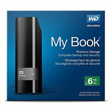 New WD My Book 6TB External Hard Drive Premium Storage USB3.0 WDBFJK0060HBK-NESN