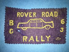 Very Rare 1963 Rover Road Rally Car Auto Club Hipster Jacket Patch Richmond BC
