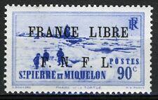 St Pierre et Miquelon 1941, 90c France Libre overprint VF MNH, Yv 292