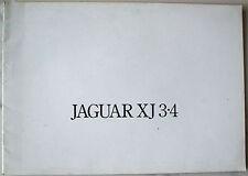 JAGUAR XJ 3.4 SERIES 2 SALES BROCHURE~~1975