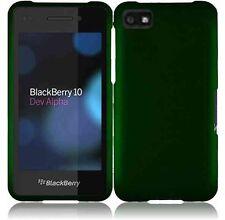 For BlackBerry Z10 Rubberized HARD Case Snap On Phone Cover Dark Green