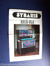 SYBARIS Model 474 By ROCK OLA 1978 ORIG JUKEBOX PHONOGRAPH FLYER BROCHURE LARGE