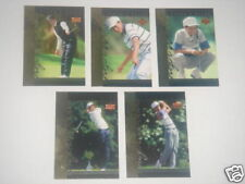 "LOT (5) 2001 ""ROOKIE"" TIGER WOODS UPPER DECK TRADING CARDS #1-5"
