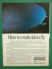 6/1985 PUB AEROJET GENERAL CORPORATION AEROSPACE SPACE ROCKET PROPELLER AD