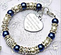 Personalised Engraved Aunt Charm Bracelet Free Card & Gift Bag 12 COLOURS