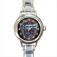 NEW* HOT HARRY POTTER RAVENCLAW HOGWARTS SCHOOL Round Italian Charm Wrist Watch