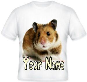 GIRLS Top Personalised Cute HAMSTER Pet T Shirt BIRTHDAY Gift